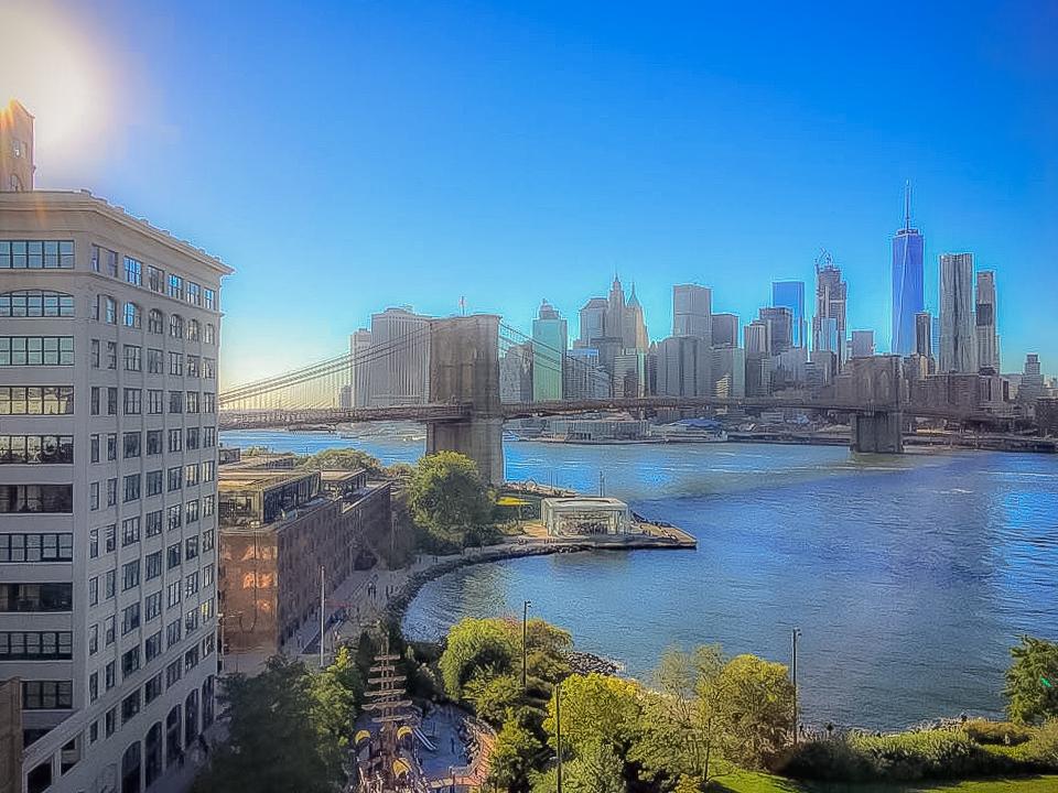 A VIEW FROM MANHATTAN BRIDGE. PHOTO: LUCAS COMPAN