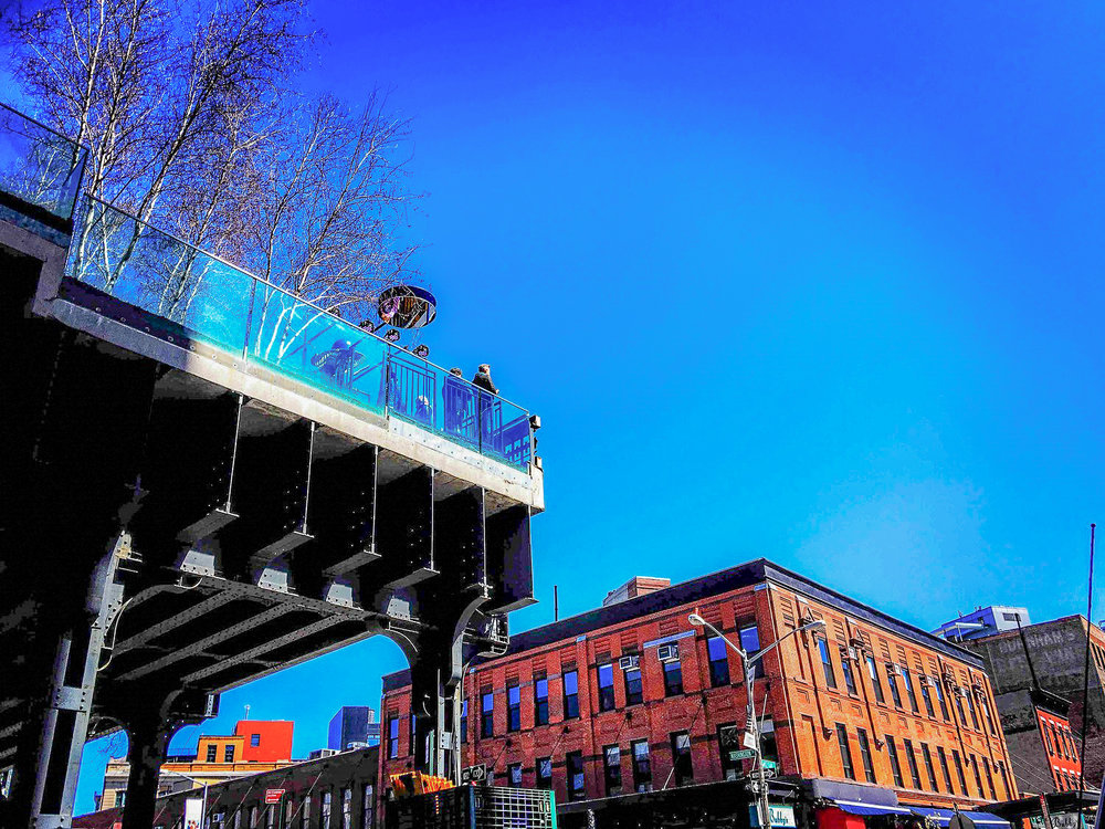 THE VERY BEGINNING OF THE HIGH LINE AT THE MEATPACKING DISTRICT. PHOTO: LUCAS COMPAN