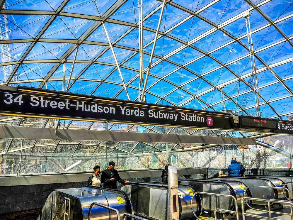 34TH STREET - HUDSON YARDS SUBWAY STATION. PHOTO: LUCAS COMPAN
