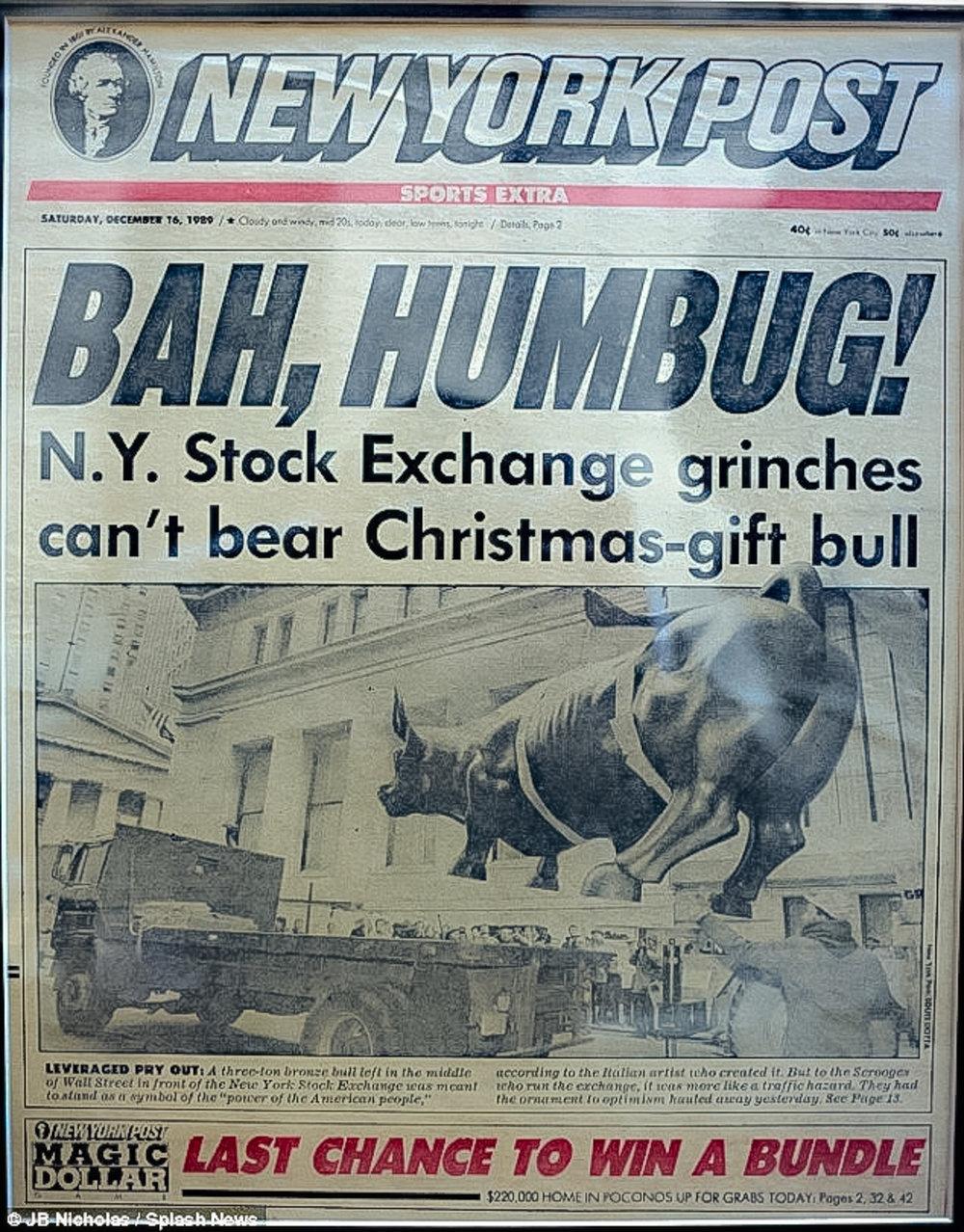 NEW YORK POST'S DECEMBER 16, 1989 ISSUE