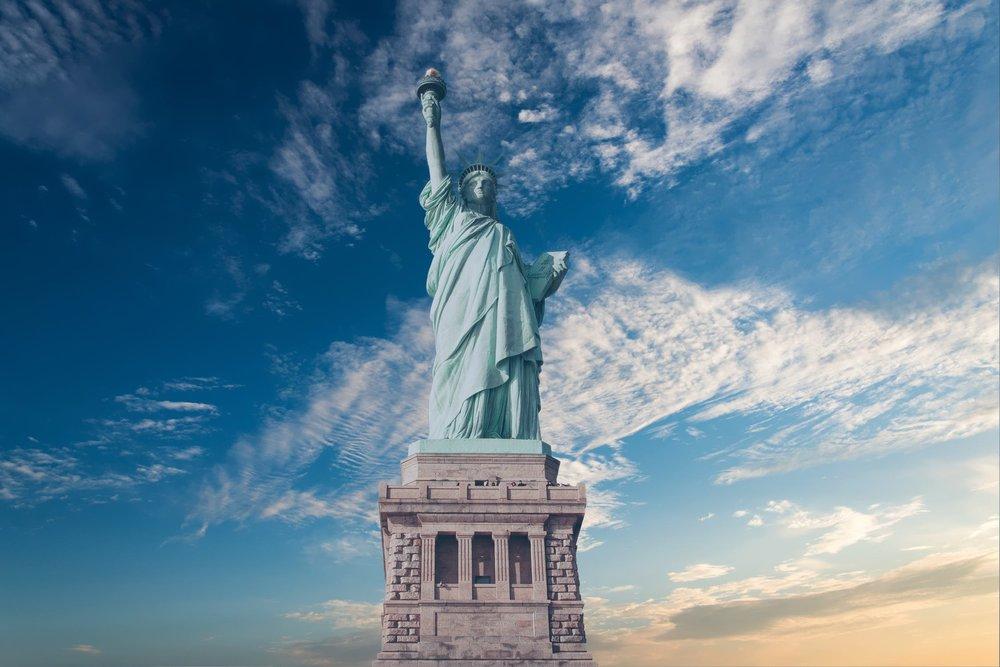 the statue of liberty. photo: lucas compan