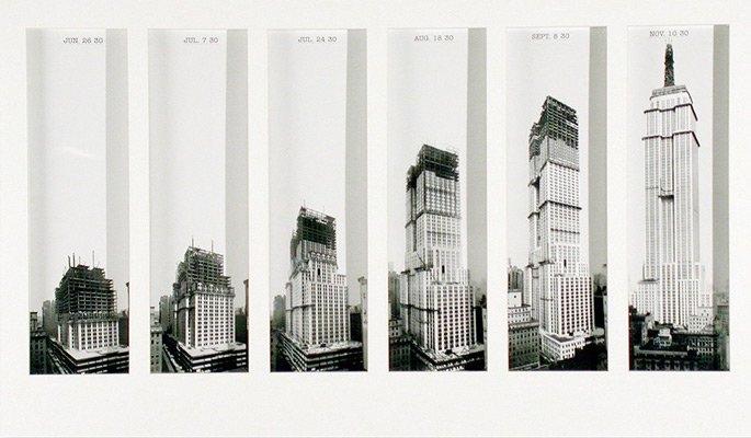 SEQUENZA TEMPORALE DELLA COSTRUZIONE DELL'EMPIRE STATE BUILDING (IMMAGINE: NYPL)