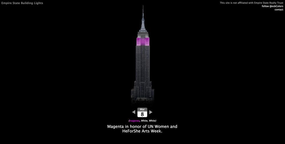 Di che colore è oggi l'Empire State Building?