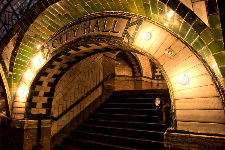 CITY HALL, LA STAZIONE ABBANDONATA. FOTO: JAMES MAHER