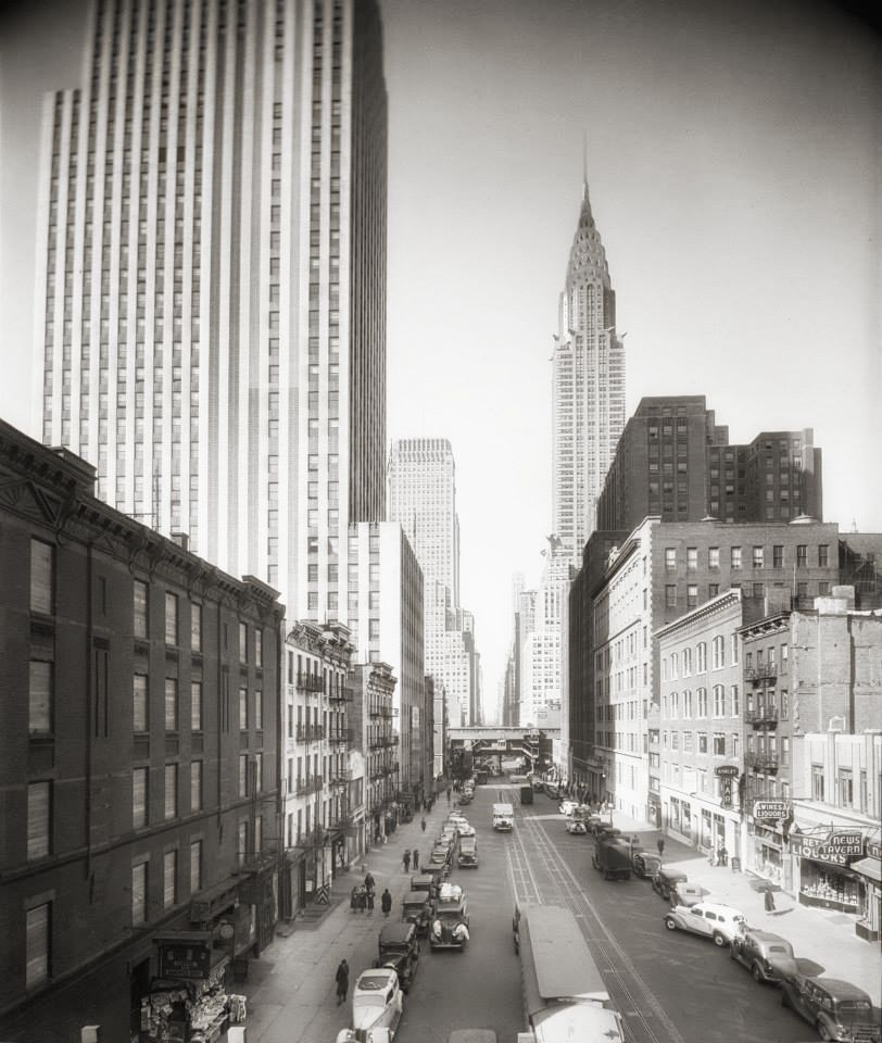 42ND STREET VISTA DALLA SECOND AVENUE| IMMAGINE:NEW YORK CITY DEPARTMENT OF RECORDS