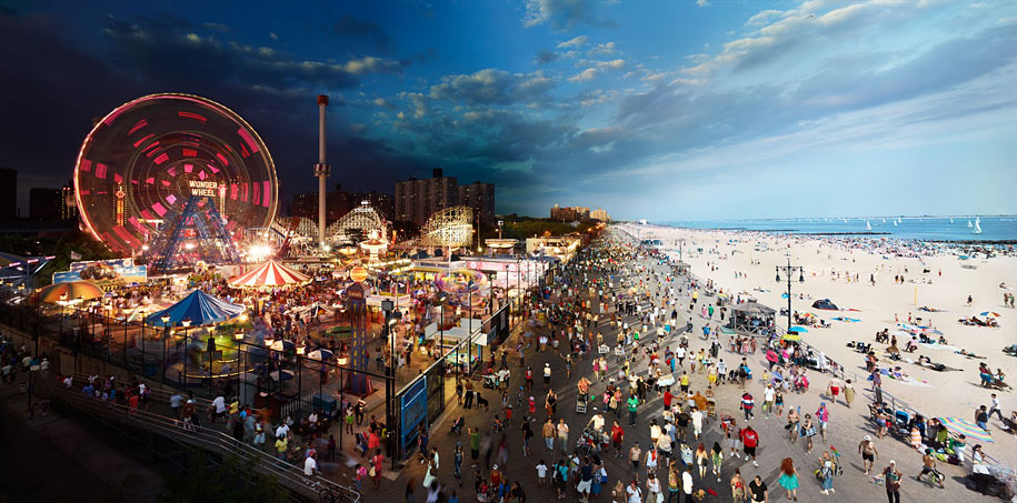 LUNA PARK IN CONEY ISLAND, BROOKLYN, NEW YORK