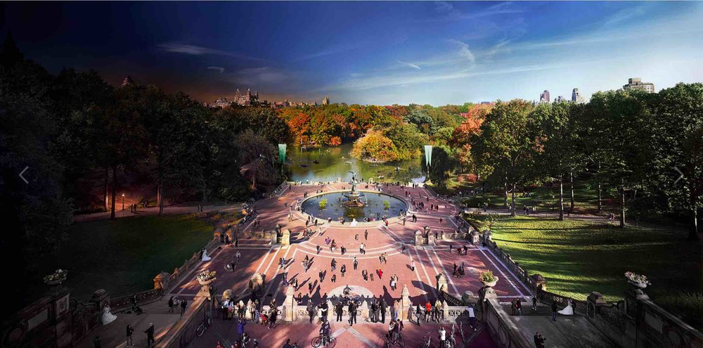 BATHESDA TERRACE AND FOUNTAIN IN CENTRAL PARK, NEW YORK CITY.