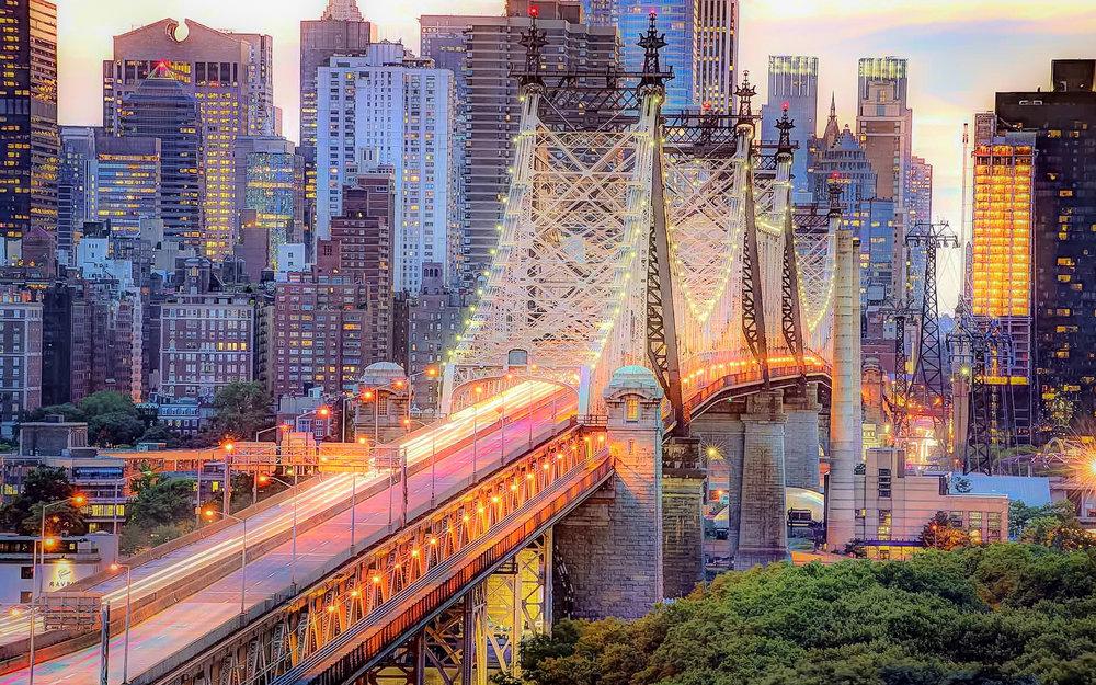 QUEENSBORO BRIDGE, ALSO KNOWN AS ED KOCH QUEENSBORO BRIDGE. Photo:    Filmvacation Travel photography & travel filmmaking