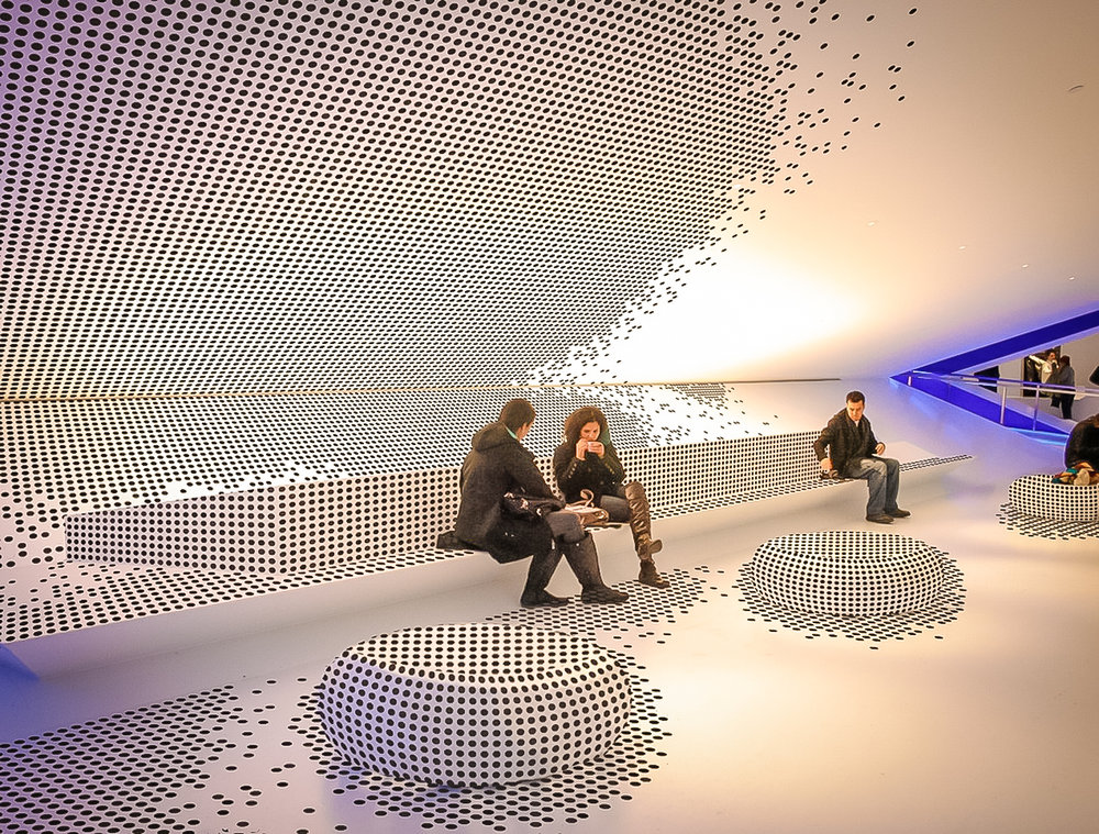 INTERIOR OF THE MUSEUM OF THE MOVING IMAGE. IMAGE: COURTESY MUSEUM OF THE MOVING IMAGE