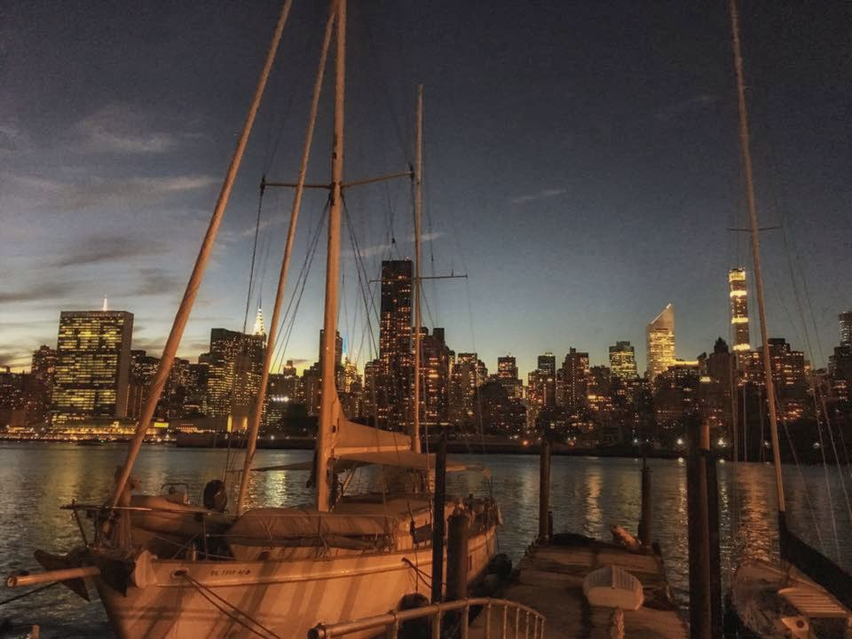 View from    anable basin sailing bar & grill    in Long Island City. Photo: Lucas Compan