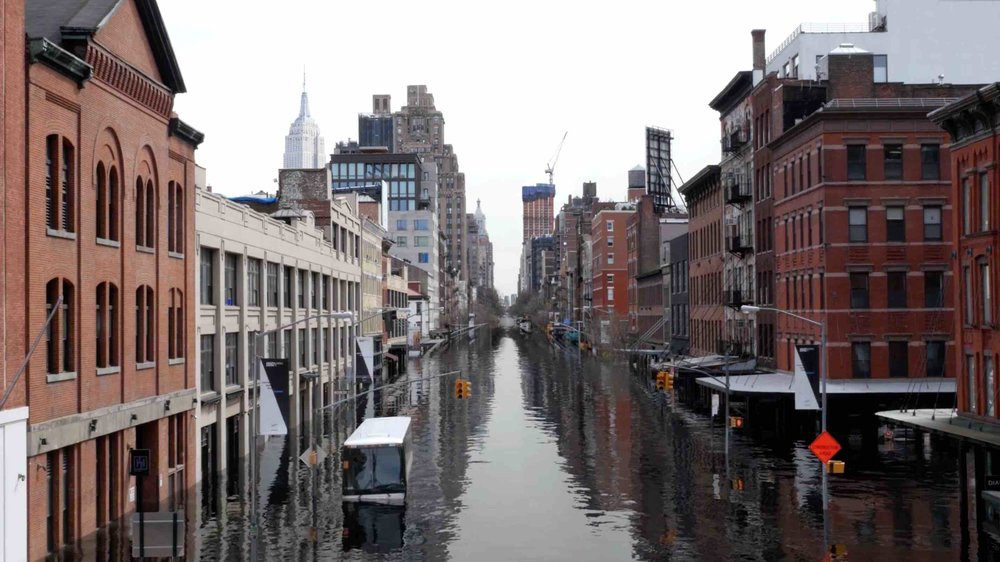 Can you imagine the Meatpacking District underwater? Screenshot from the video