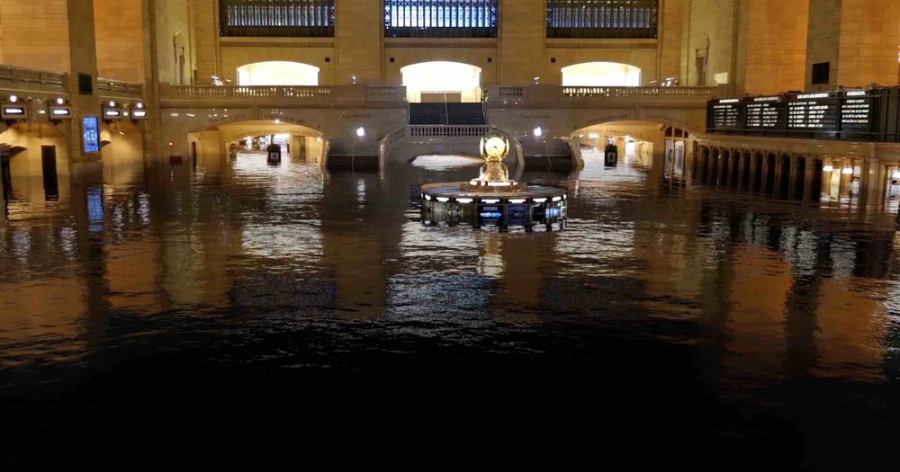Can you imagine Grand Central Terminal underwater? Screenshot from the video