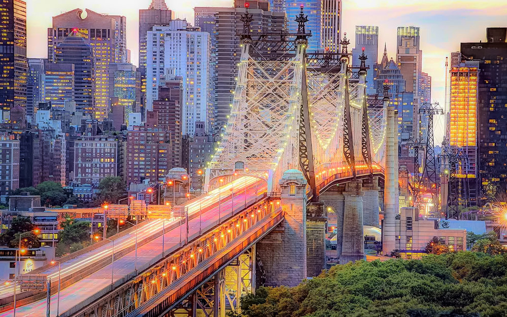 QUEENSBORO BRIDGE, CONOSCIUTO ANCHE COME ED KOCH QUEENSBORO BRIDGE. FOTO:    FILMVACATION TRAVEL PHOTOGRAPHY & TRAVEL FILMMAKING