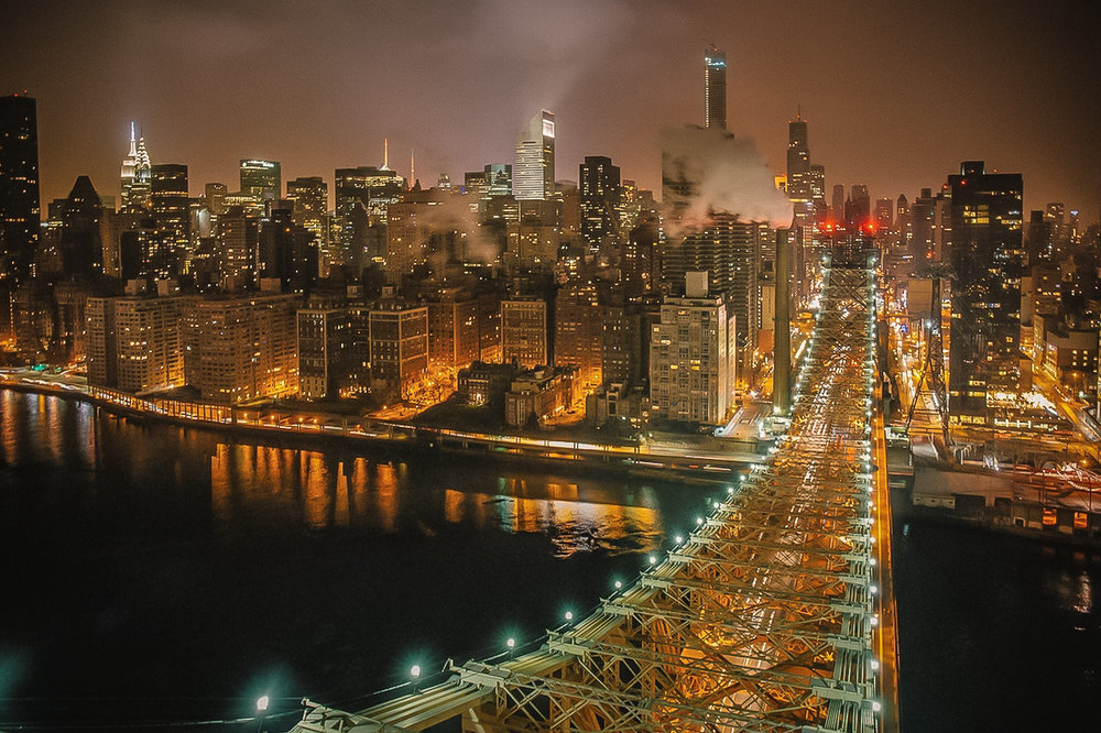 Queensboro bridge. foto di uno drone