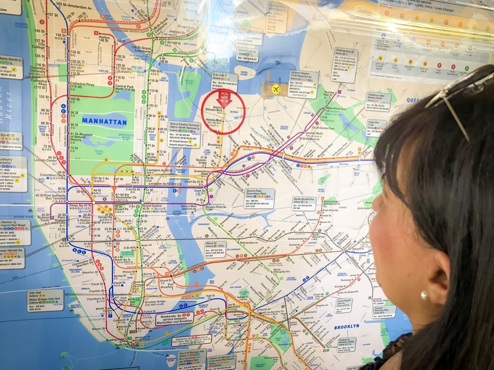 I rented an apartment in astoria-ditmars, in queens, new york. If i want to go to Manhattan, i take the n or w trains. It's a fifteen-minute subway ride to the city.