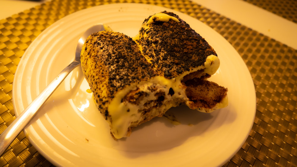 homemade tiramisu: a blend of authentic italian ingredients and a new yorker special touch.