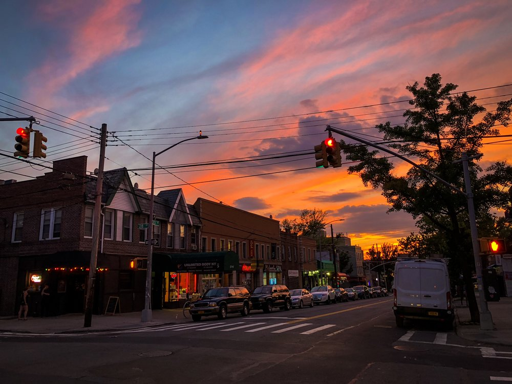 the fantastic view from my street in astoria. photo: lucas compan