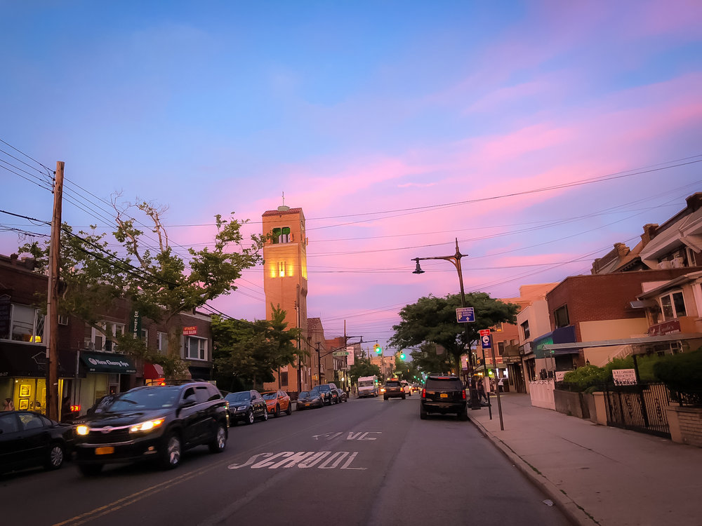 astoria-ditmars boulevard: 24/7 restaurants from four corners of the world, bars, coffee shops, and much more. at the same time, it's a very quiet, family-oriented, local community.