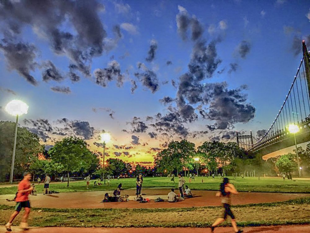 in Astoria park, you also can keep up with your good shape exercising at the running track