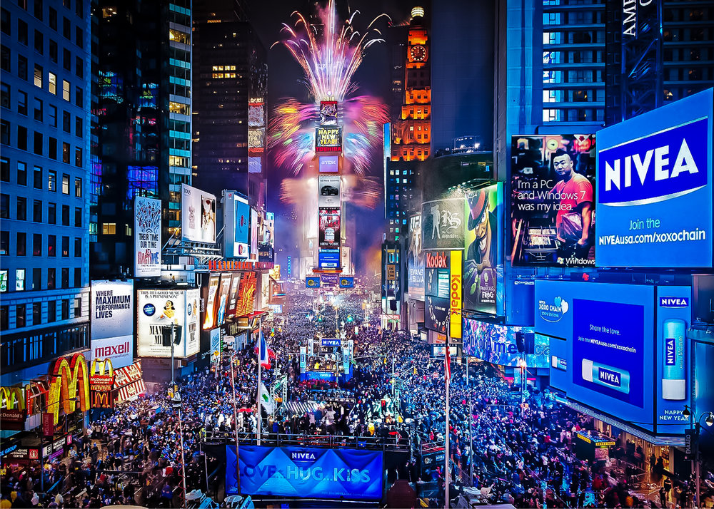 new year's even in times square. image: courtesy of times square alliance