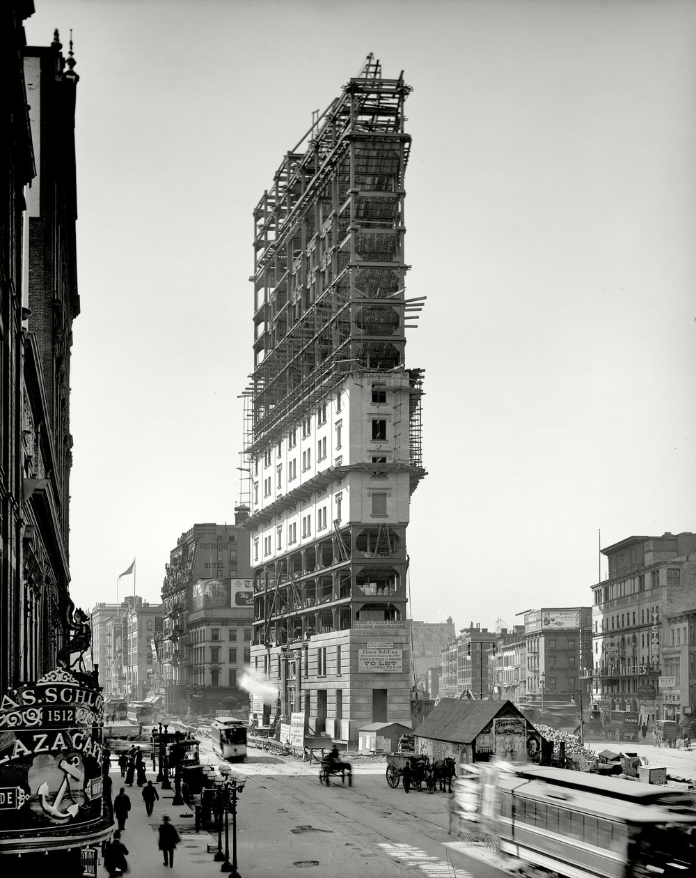 One Times Square under construction. Photo: unknown (1903)