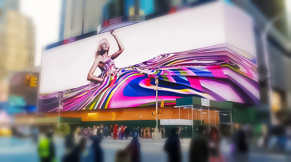 Google's Time Square's largest interactive billboard in the world. Photo: lucas compan