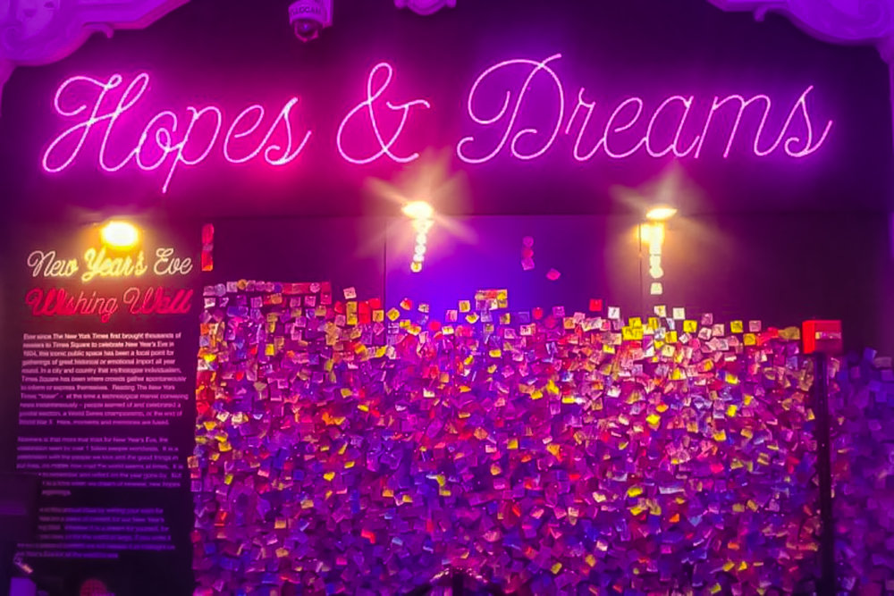 millions of hopes and dreams for the new year every year. photo: times square alliance.