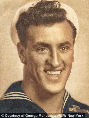 George Mendonsa , the sailor, 22 years-old in August 1945.