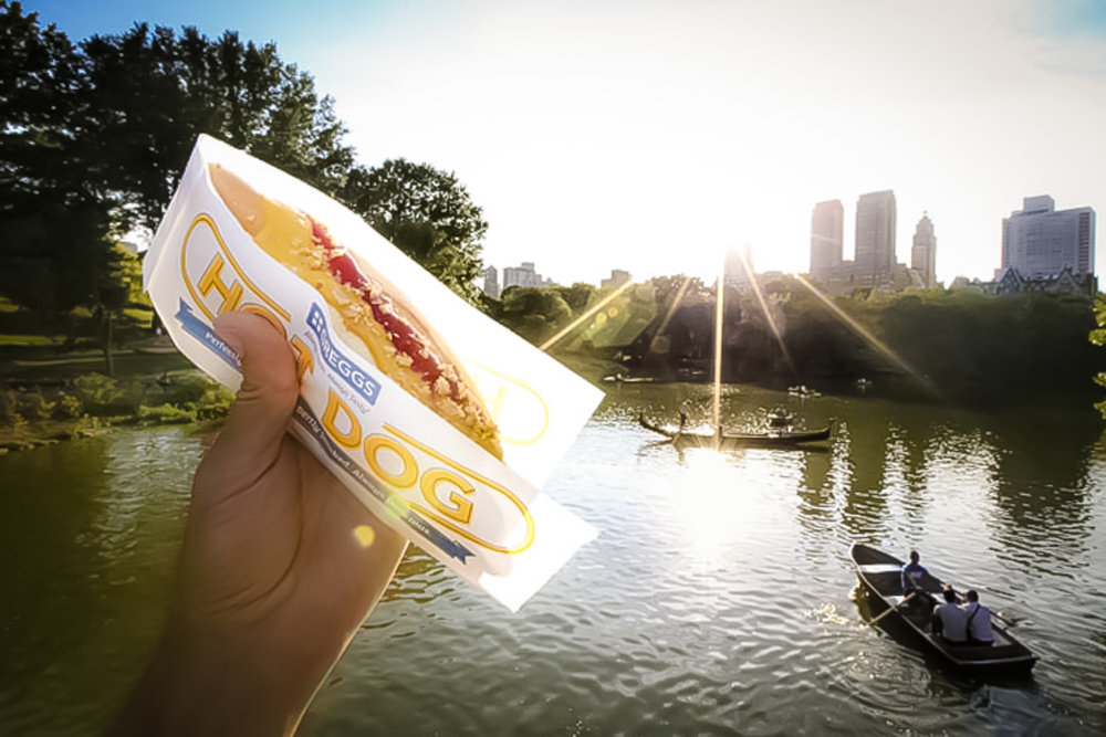 How about a hot dog in Central Park?