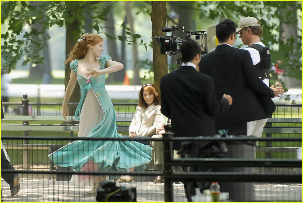Enchanted   is a 2007 American  musical  fantasy  romantic comedy  film, produced by  Walt Disney Pictures  and Sonnenfeld and Josephson Entertainment. image: courtesy walt disney studios