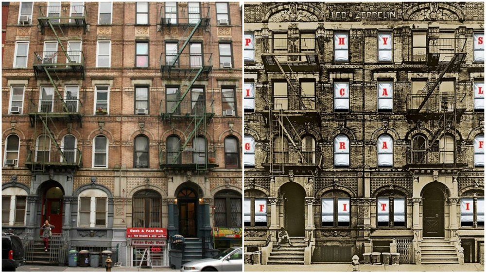 96-98 ST. MARKS PLACE WAS THE COVER OF LED ZEPPELIN'S 1975 ALBUM PHYSICAL GRAFFITI.
