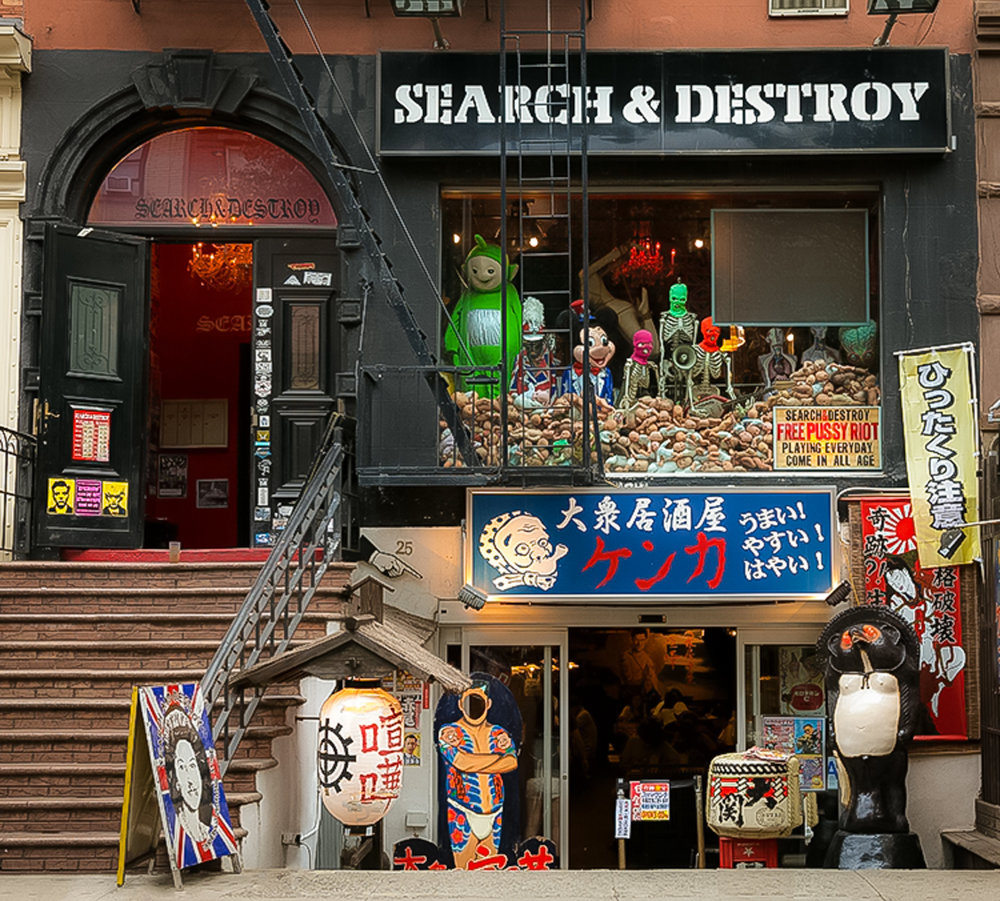 SEARCH & DESTROY: A VINTAGE SHOP ON ST. MARK'S PLACE, OPENED 25 YEARS AGO. PHOTO: LUCAS COMPAN