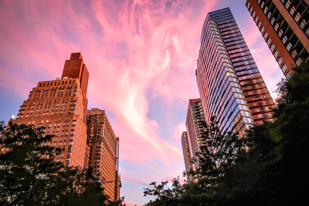 The Pink Sunset, minutes before the lights lit up. Photo: lucas compan