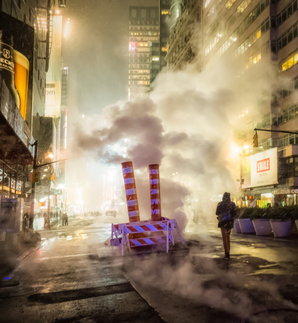 snow, cold, and steam in manhattan, new york city. Photo: lucas compan