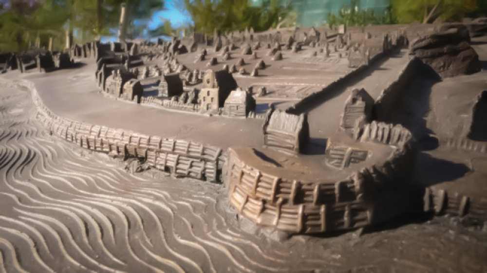 Sculpture of the 1660 Castello Plan. Photo courtesy of The Battery Conservancy.
