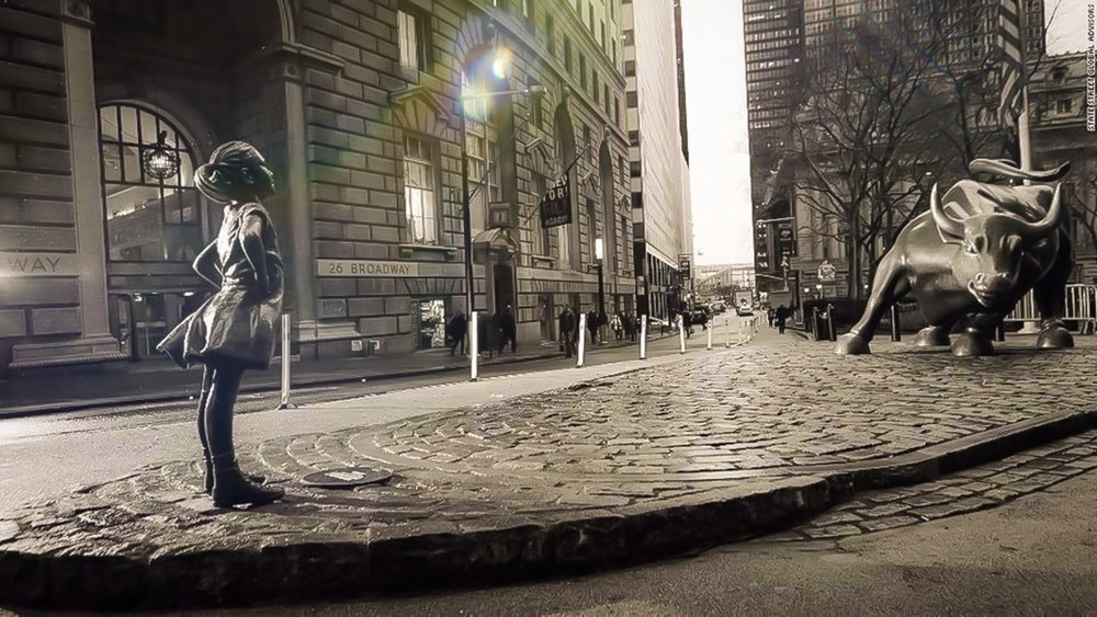 The Wall street Bull and the Fearless Girl. Photo: Lucas Compan