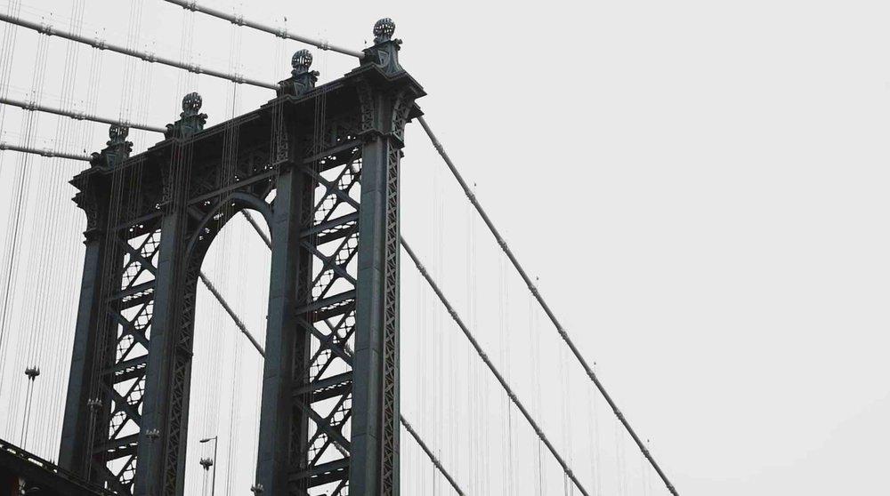 Manhattan Bridge from DUMBO, Brooklyn.