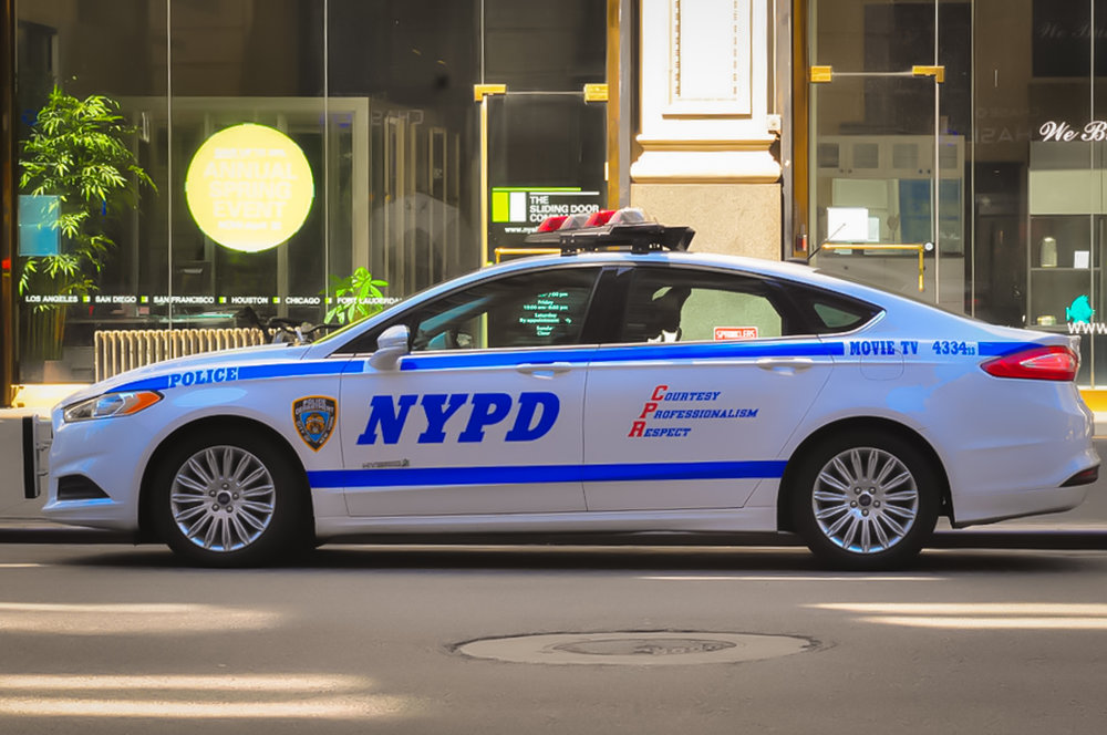 NYPD Movie / TV unit patrol car, as you can see on the rear side of the vehicle. Photo: Lucas Compan