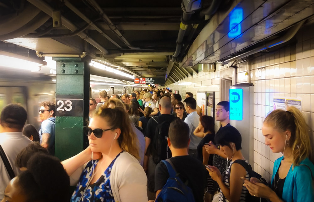 It's 6PM. the crowd at 23rd Street subway stop. Phto: google