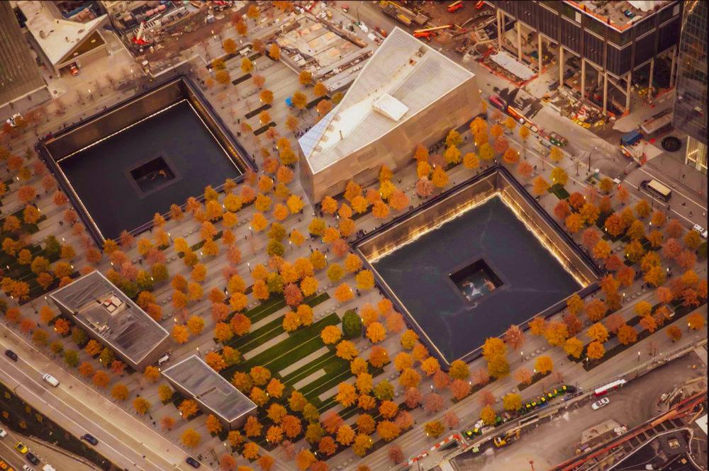 9/11 national memorial in lower manhattan