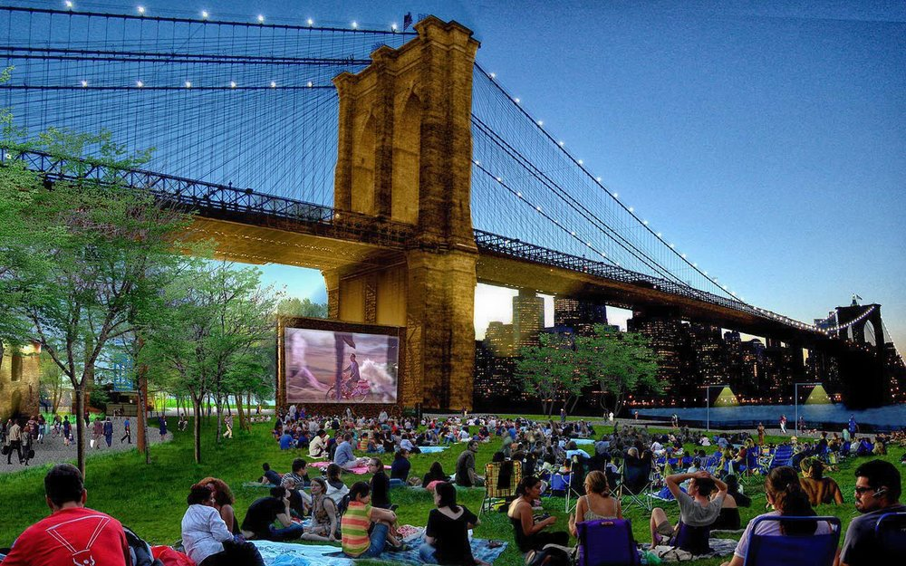 cinema with a view: summer fun in brooklyn bridge park. photo: orsvp