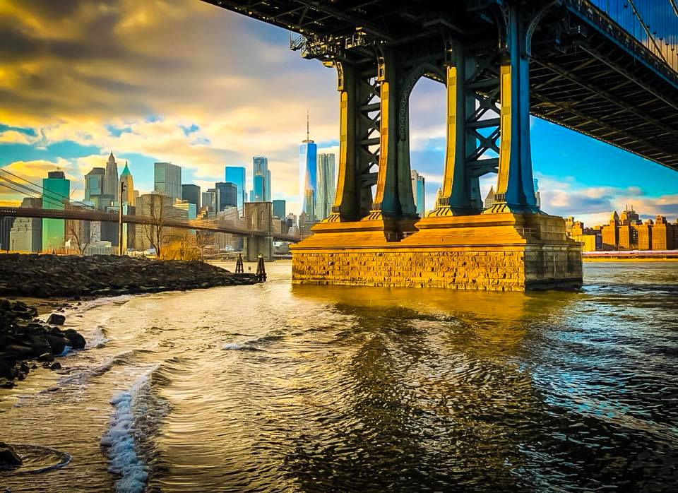 view from under the manhattan bridge, dumbo. Photo: Lucas Compan