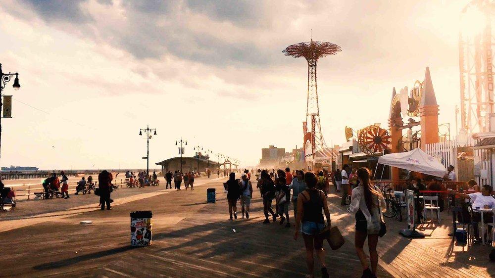 coney island: beach and boardwalk. photo: lucas compan