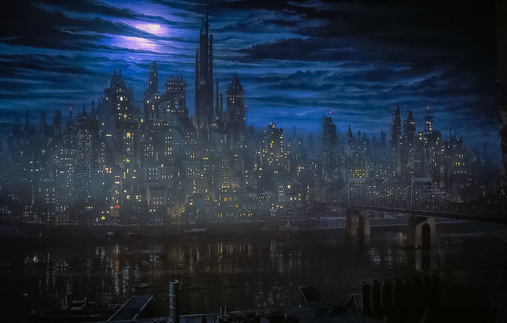 L'ATMOSFERA SCURA DI GOTHAM CITY. IMMAGINE: ARKHAM CITY WIKI