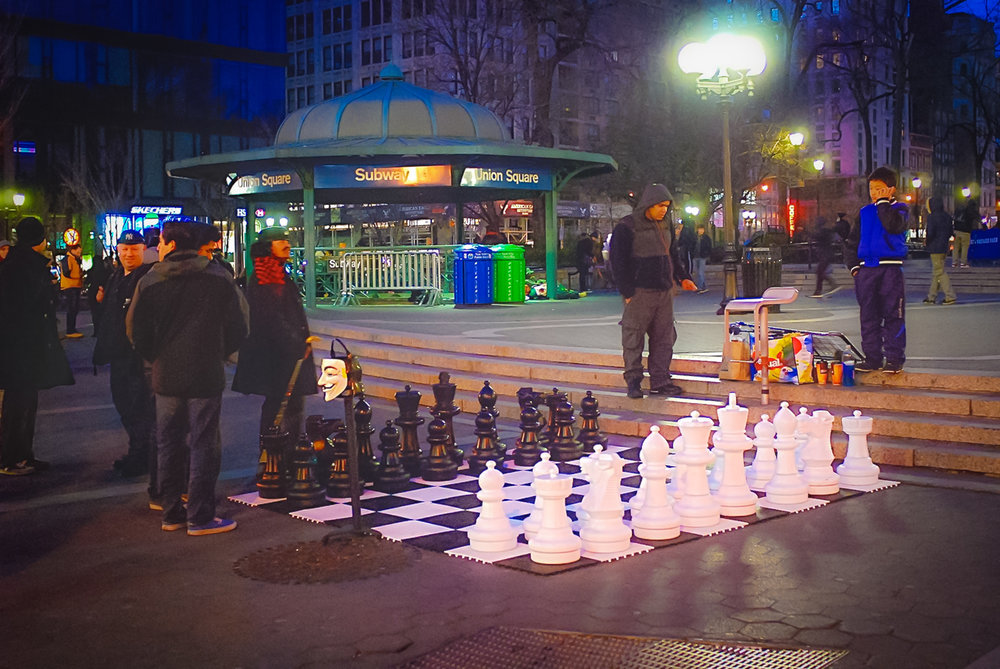 Did you know? You can always find a chess game in Washington Square Park or Union Square. The skill vary and it will usually costs $5. Photo: lucas Compan