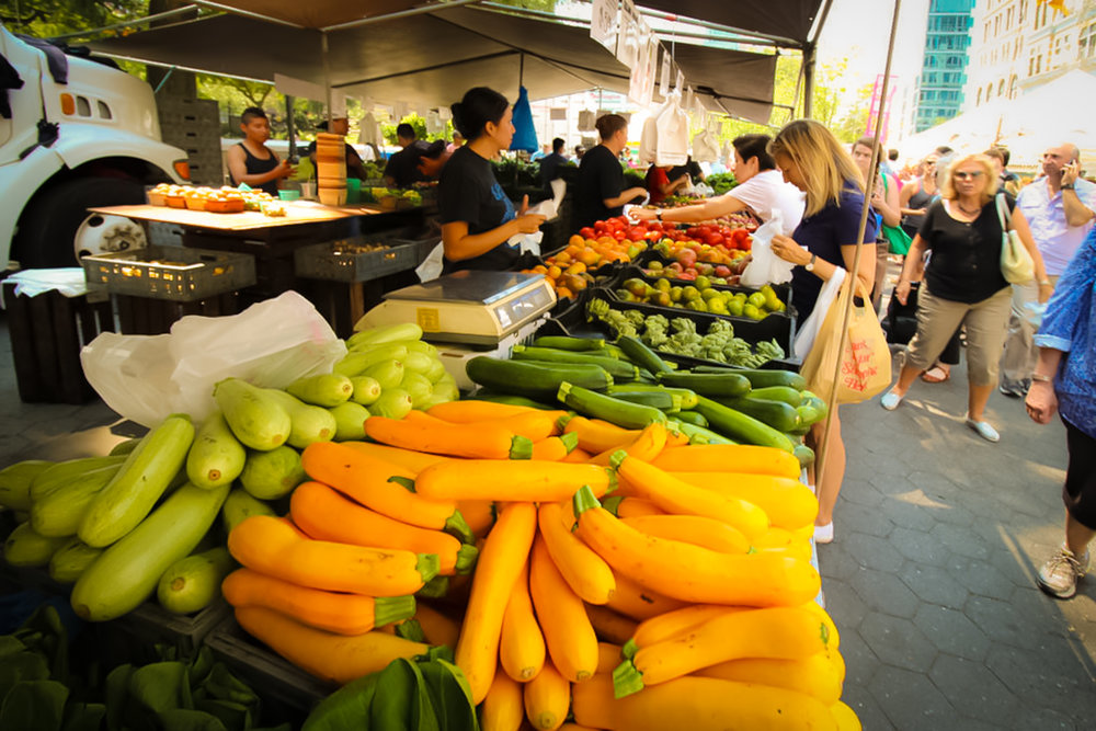 Greenmarket in Union Square, New York City. Photo: Lucas Compan