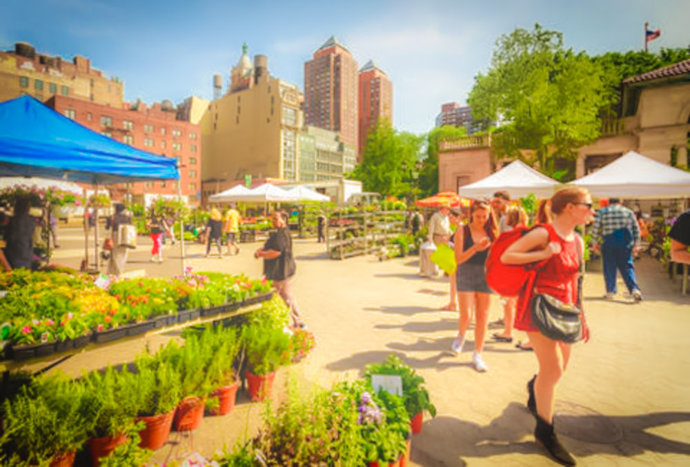 Greenmarket in Union Square, photo: lucas compan