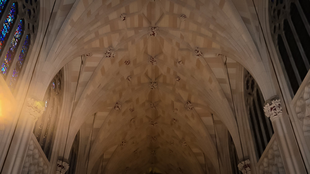 So although most of the cathedral is marble, despite popular belief, the ceiling is not. Photo: google