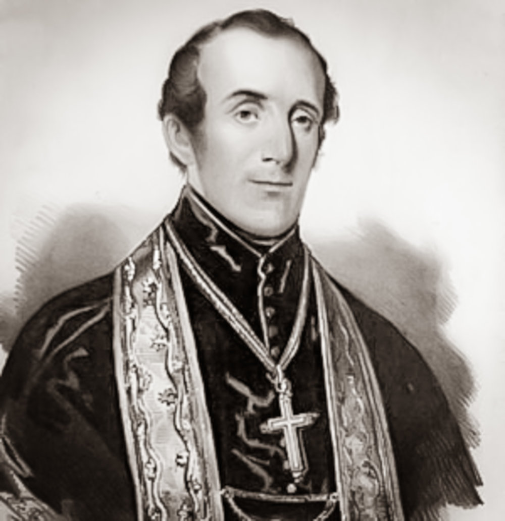 John Joseph Hughes  (June 24, 1797 – January 3, 1864) was an  Irish -born  prelate  of the  Roman Catholic Church  in the United States. He was the fourth Bishop and first Archbishop of the Archdiocese of New York , serving between 1842 and his death in 1864