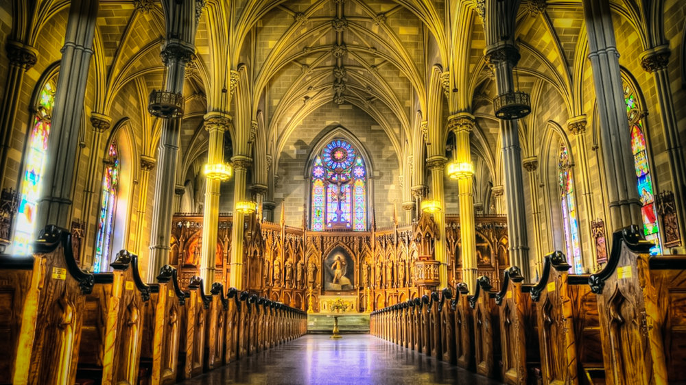 Old St. Patrick's Cathedral, in little italy, Manhattan. Photo: lucas compan
